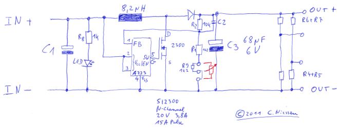christoph niessen elektronik step up wandler 0 9 5 1 volt. Black Bedroom Furniture Sets. Home Design Ideas